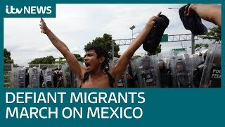 Thousands of Central American migrants enter Mexico in hope to reach the United States | ITV News