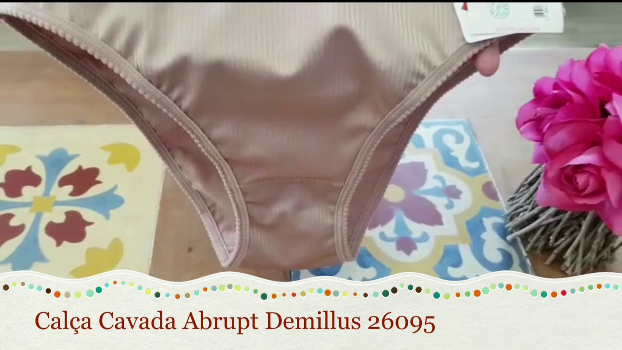 f2f942dff Calça Cavada Abrupt Demillus 26095 - Le Lingerie - YouTube