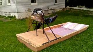 Motor test on Airboat