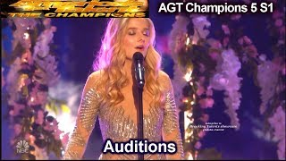 Jackie Evancho sings Music of the Night AMAZING Audition | America's Got Talent Champions 5 AGT