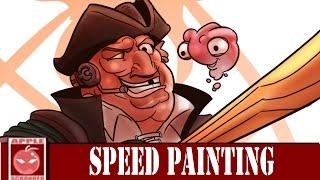 Treasure Planet John Silver Speed Drawing