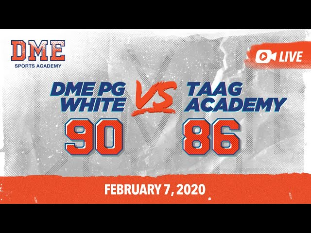 DME PG White vs TAAG Academy