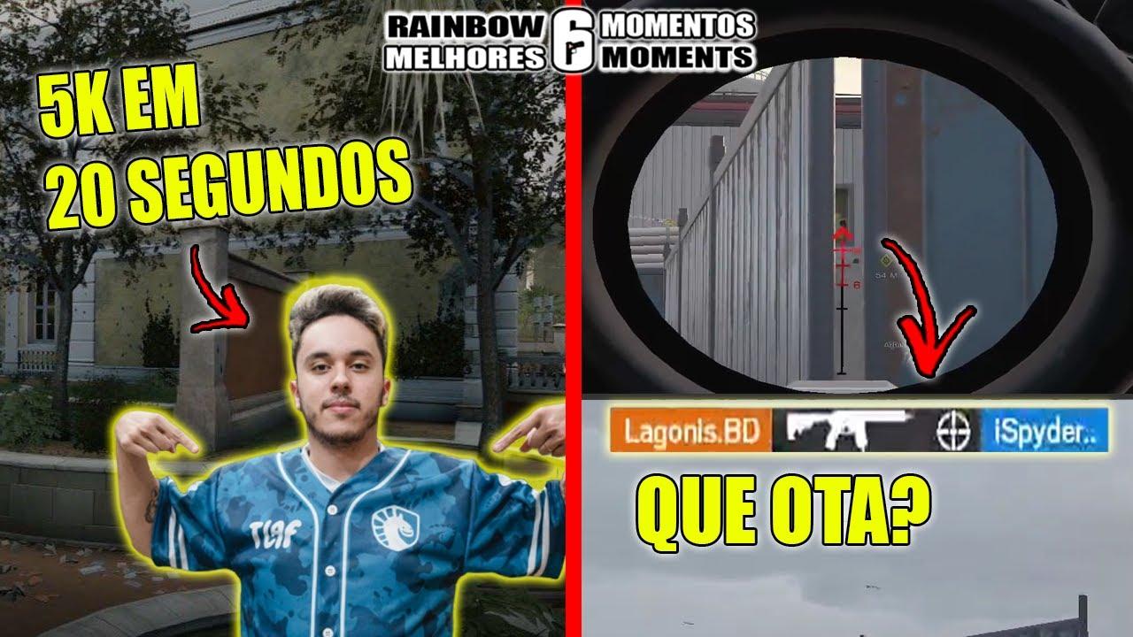 NESK FAZENDO 5K ABSURDO, BALINHA DO LAGONIS, NA GEOGRAFIA DO PSYCHO - MELHORES MOMENTOS LIVES R6
