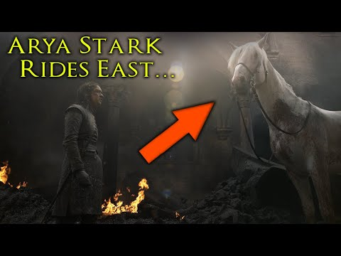 Where Arya Is Really Going On The White Horse! SEASON 8 🐎 ⚔️