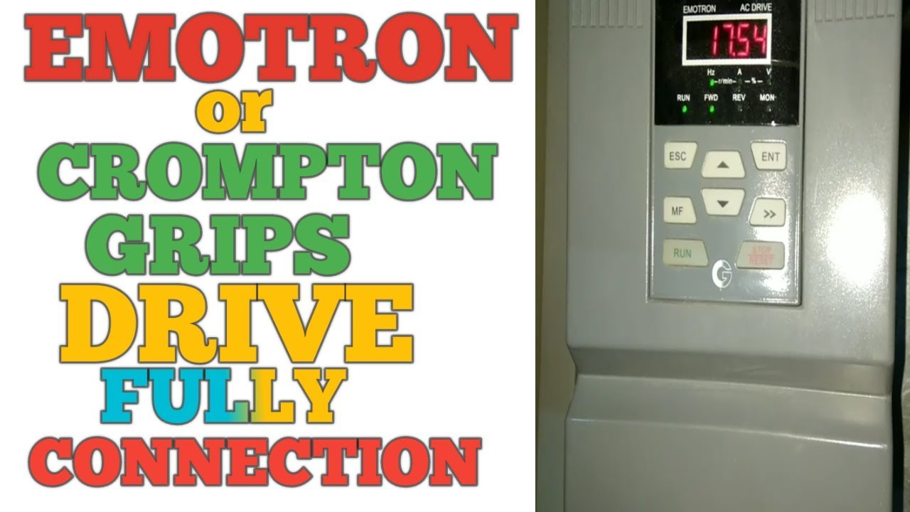 CROMPTON GREAVS OR EMOTRON VERIABLE FREQUENCY DRIVE CONNECTION on