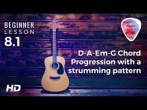 81 D A Em G Chord Progression With A Fun Strumming Pattern Youtube