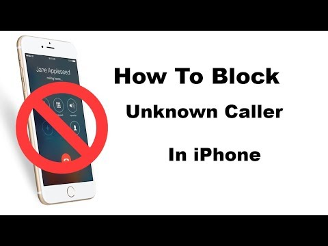 How To Block Unknown Caller in iPhone IOS 12