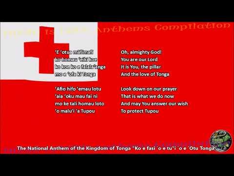 Tonga National Anthem with music, vocal and lyrics Tongan w/English Translation