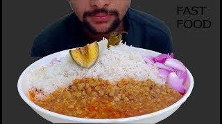 Messy Eating dal chawal |food eating show | messy food eating | mukbang eating show #FASTFOOD