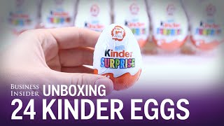 Check out the toys we found inside 24 Kinder Surprise Eggs