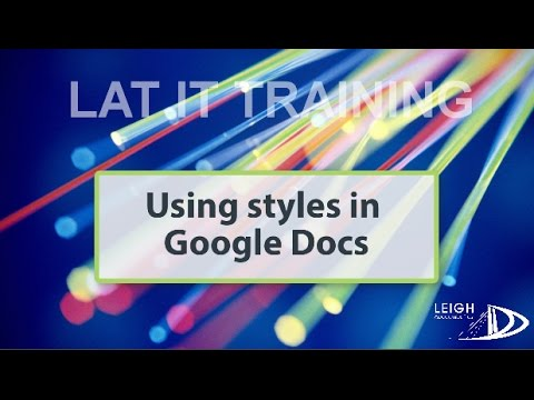 Using Styles In Google Docs