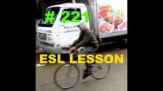 Learning English through Pictures - ESL / EFL Words - ride past, scuff, jut out - Lesson 221