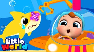 Baby Shark Gets a Boo Boo | Little Angel Kids Songs and Nursery Rhymes
