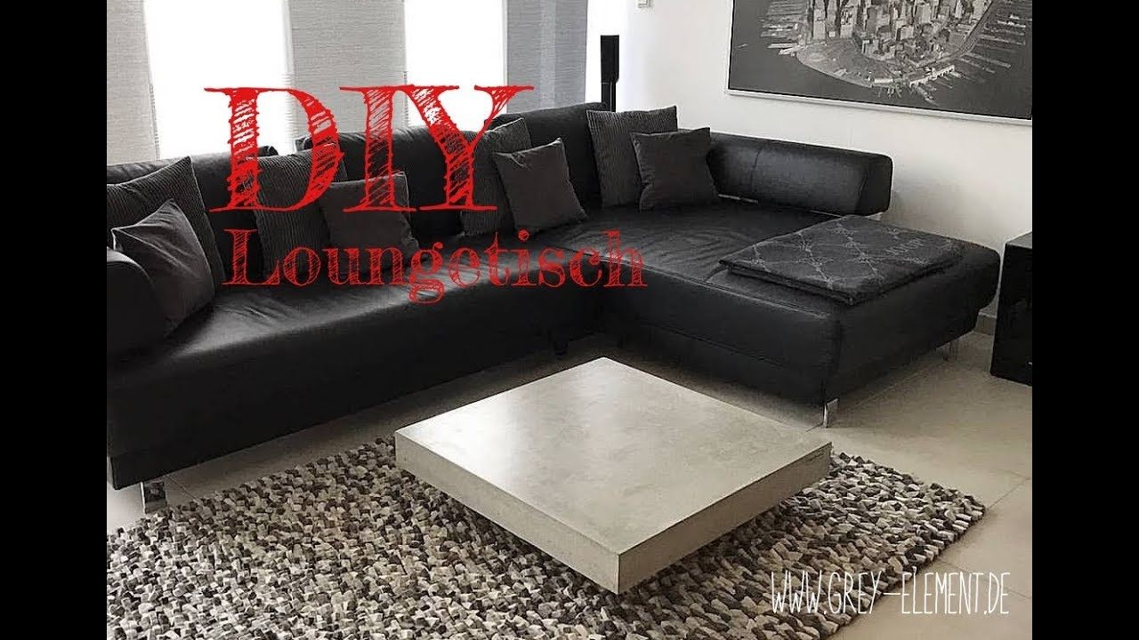 couchtisch aus beton selber machen diy betonm bel youtube. Black Bedroom Furniture Sets. Home Design Ideas