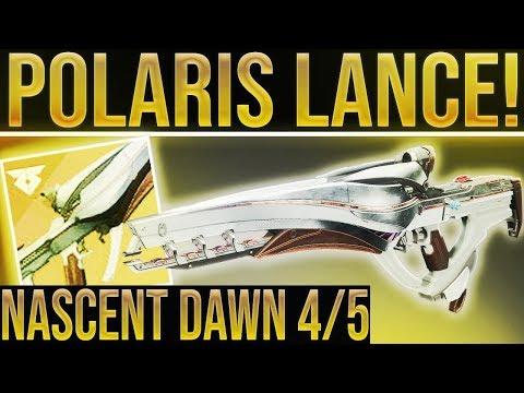 Destiny 2. POLARIS LANCE EXOTIC SCOUT REWARD FOUND! Nascent Dawn 4/5 Quest Step. (Nightfalls)