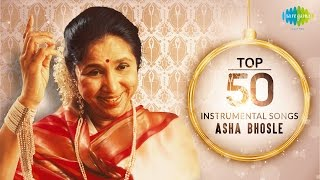 Top 50 song of asha bhosle | instrumental hd songs | one stop jukebox