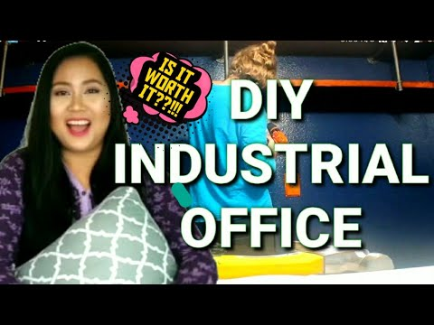 MY HOME RENOVATION PART 1 | INDUSTRIAL OFFICE FOR HUSBAND BOY | ON A BUDGET