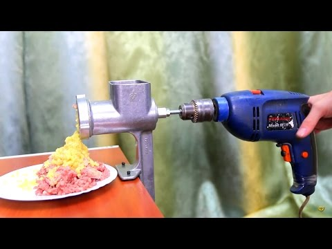 How to make an electric mincing machine