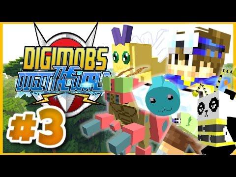 MINECRAFT DIGIMOBS ROLEPLAY ► THE DIGITAL WORLD Episode 3 ► GOVIVA JUNGLE! (Minecraft Digimon Mod)