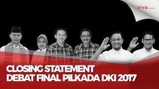 Video Closing Statement Debat Final Pilkada DKI 2017 download MP3, 3GP, MP4, WEBM, AVI, FLV Juni 2017