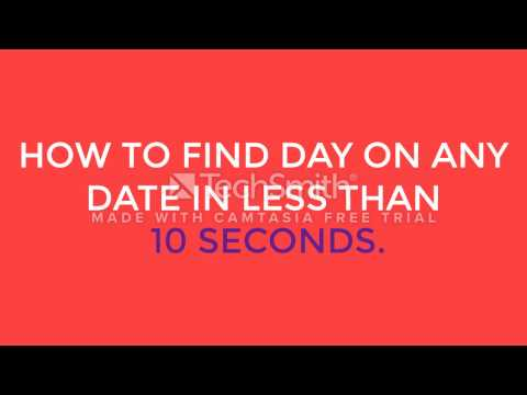 Find day on any date in 10 seconds. Secret of Arthur Benjamin revealed