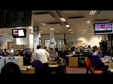 BBC Newsroom Walk Through