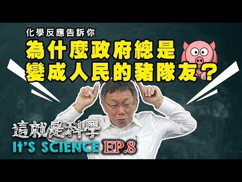 【這就是科學|柯文哲】EP8/阿北理化開課了!化學反應告訴你:為什麼政府總是變成人民的豬隊友?