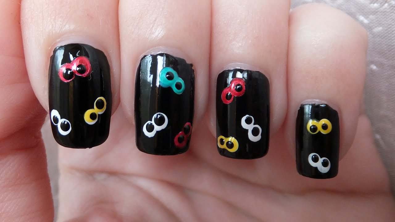 Googly Eyes Nail Art Tutorial For Halloween - YouTube