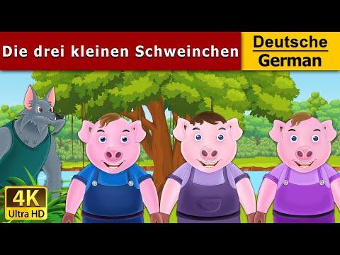 Die drei kleinen Schweinchen | Gute Nacht Geschichte | Märchen Für Kinder | Deutsche Märchen