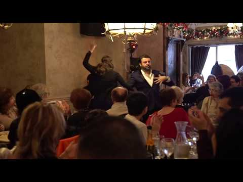 David Serero at Onegin restaurant New York - Russian Cabaret Night