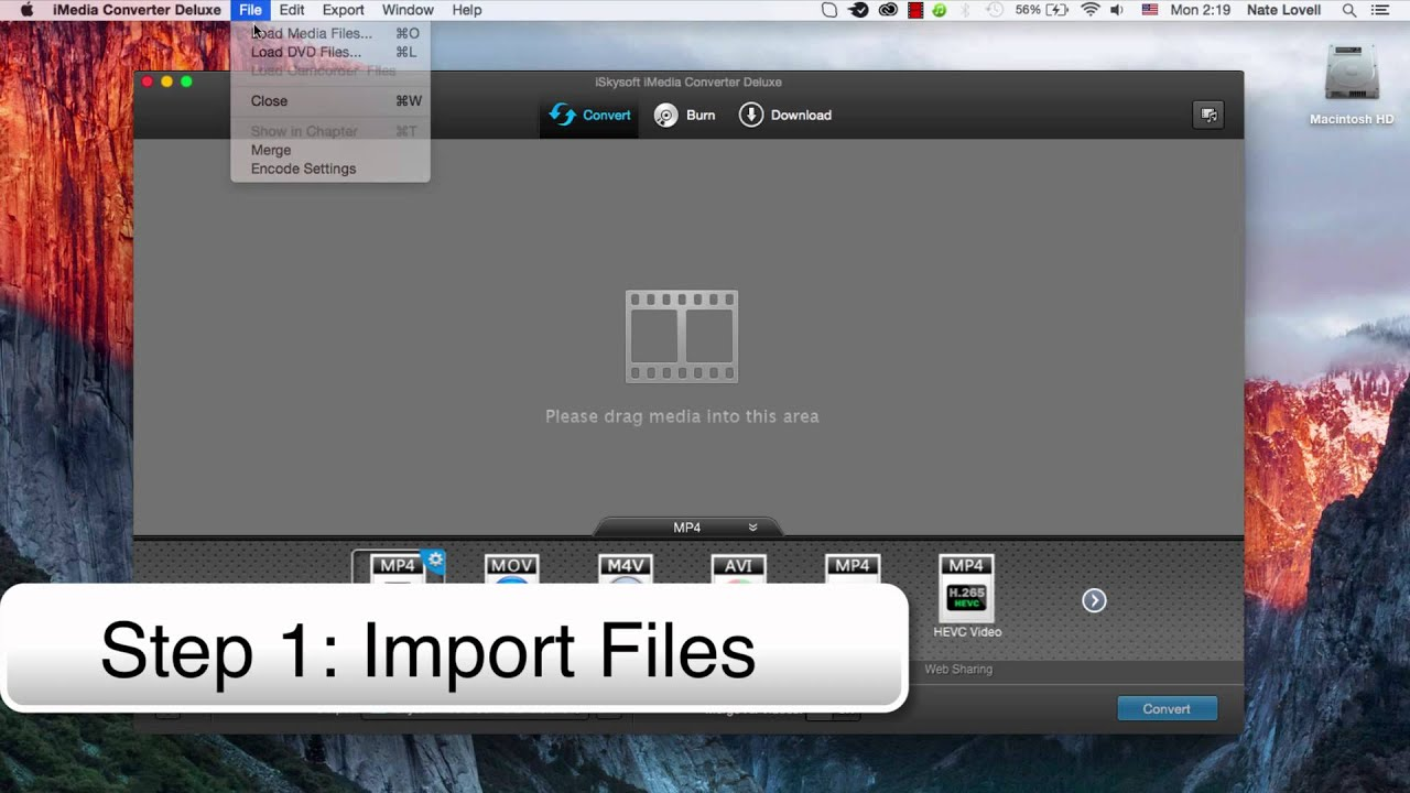 Import TS Files to the Software
