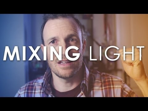 Video Lighting Demo - Mixing Color Temperatures