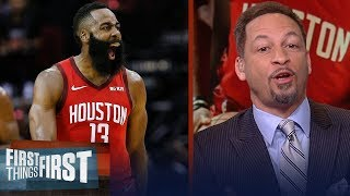 Chris Broussard reacts to Harden's big night, Rockets playoff chances | NBA | FIRST THINGS FIRST