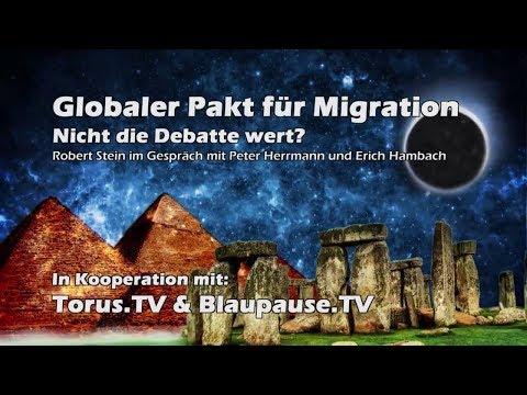 Globaler Migrationspakt? keine Debatte wert? Erich Hambach & Peter Herrmann bei Steinzeit.tv