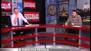 IL LEADER DELLA LEGA NORD MATTEO SALVINI OSPITE A DITELO A ROMAUNO