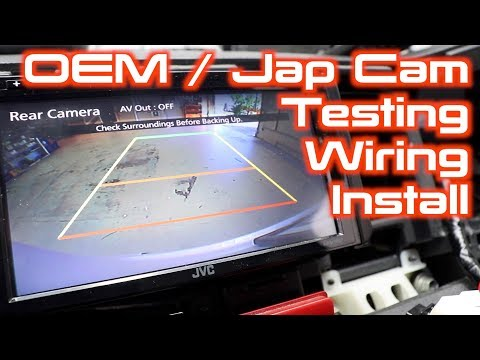 How To Wire A Japanese or OEM Parking Camera to an Aftermarket Screen.