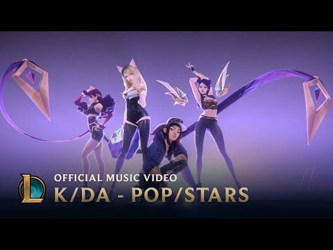 "K/DA  (featuring Madison Beer, (G)I-DLE, Jaira Burns) – ""Pop/Stars"" – Official Music Video – League of Legends"