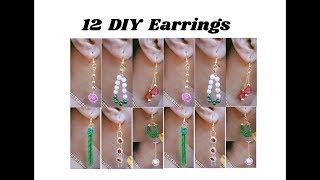 12 DIY designer earrings   Making with ball chain