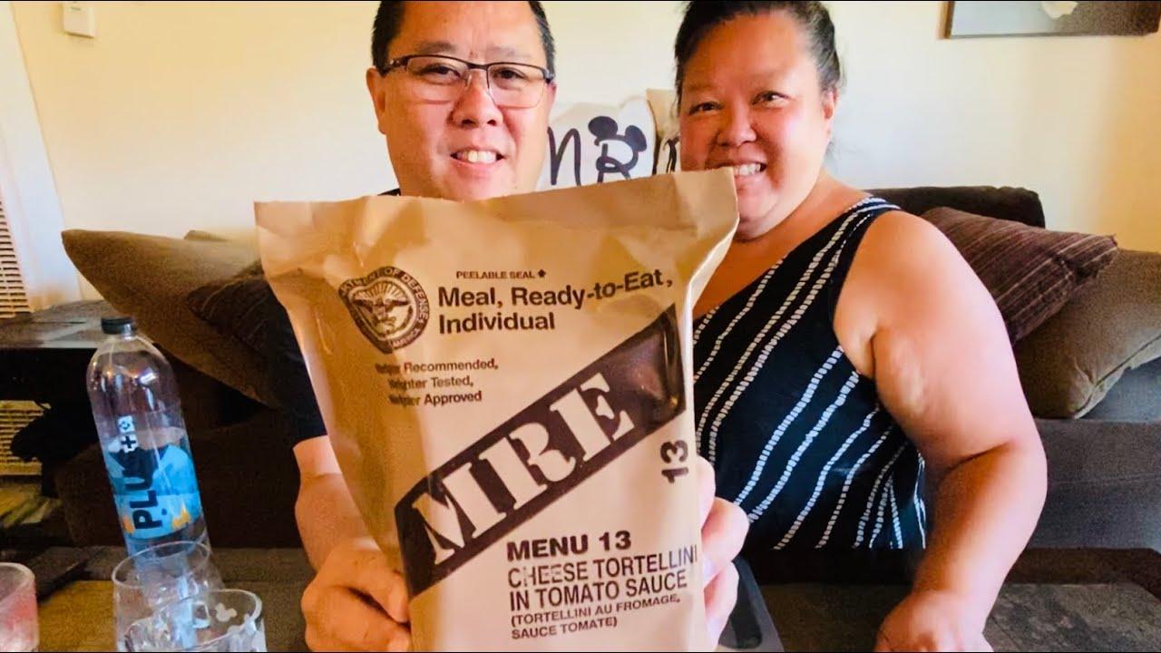 US MILITARY MRE Menu 13 Review | Cheese Tortellini in Tomato Sauce