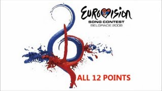 Eurovision 2008 All 12 Points