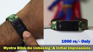 Myntra Blink Go Fitness Band Unboxing & Setup || in Telugu