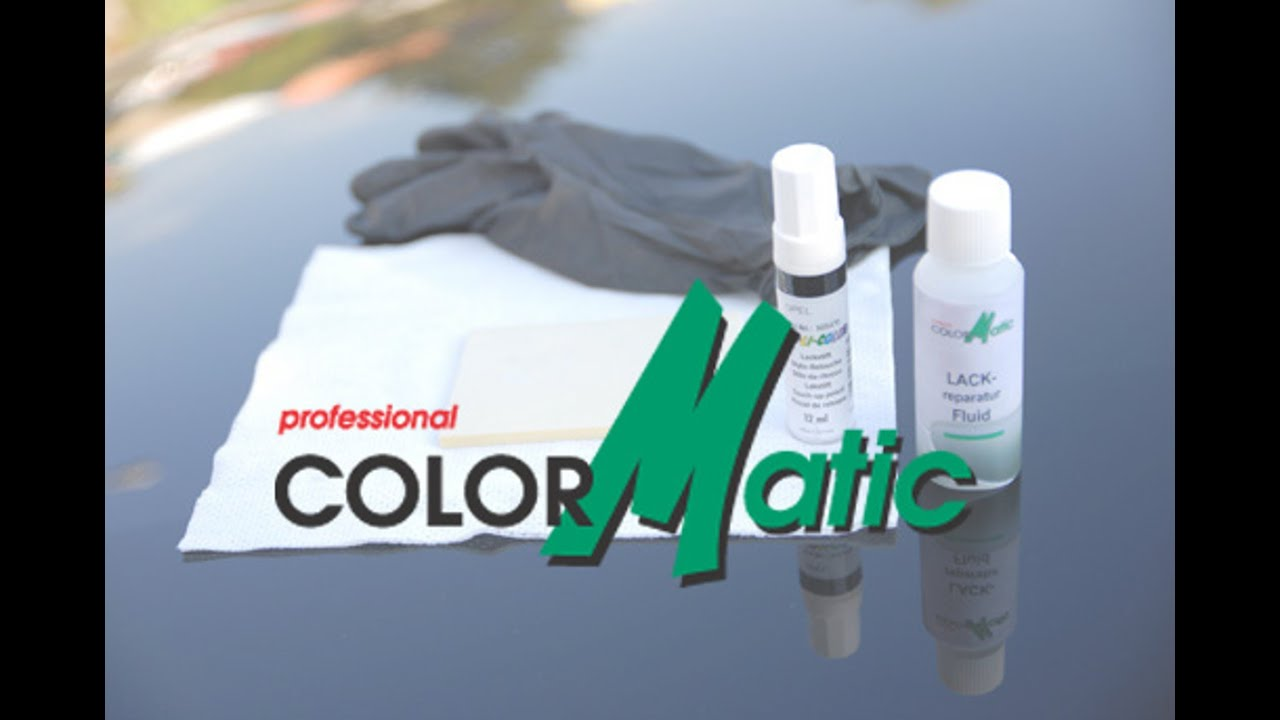 colormatic lackreparatur set f r steinschl ge youtube. Black Bedroom Furniture Sets. Home Design Ideas