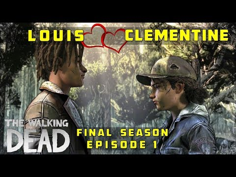 Clementine & Louis Romance (All Adorable Moments) - The Walking Dead: The Final Season, Episode 1