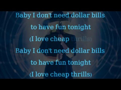 Sia Cheap thrills Official lyrics Clean and Clear version