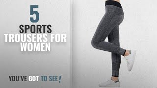 Top 10 Sports Trousers For Women [2018]: U.S. CROWN Women's High Quality Stretchable Yoga Pant Gym