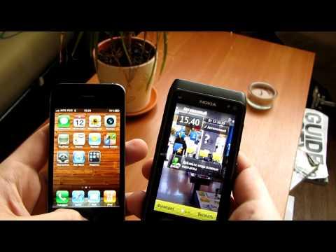 Nokia N8 против Iphone 4