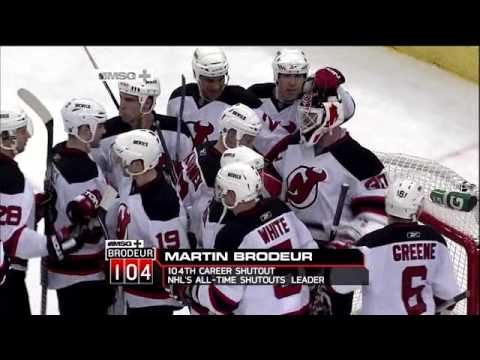 Martin Brodeur Sets All-time Shutout Record w  104th Shutout - YouTube 1bae2ae8b