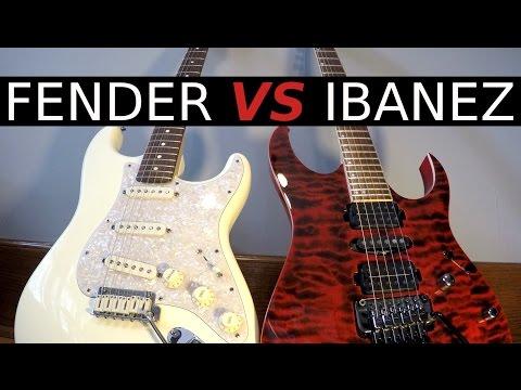 Fender vs Ibanez - Guitar Tone Comparison!