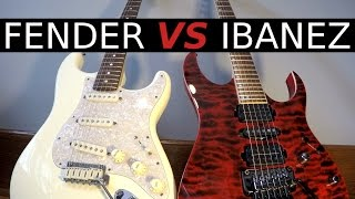 FENDER vs IBANEZ - Guitar Tone Comparison!
