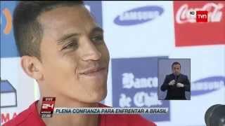 ALEXIS SANCHEZ Y REPORTERA ALEMANA